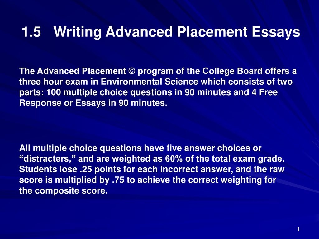 Writing a program choice essay