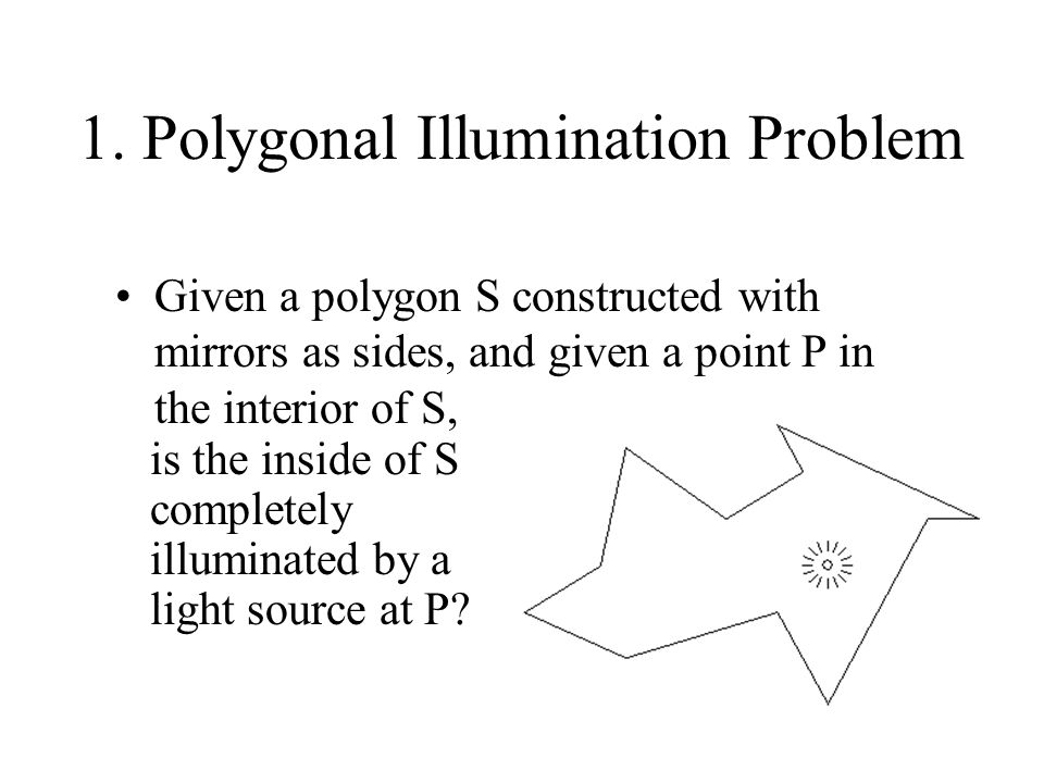 1. Polygonal Illumination Problem