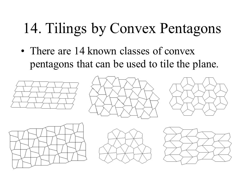 14. Tilings by Convex Pentagons