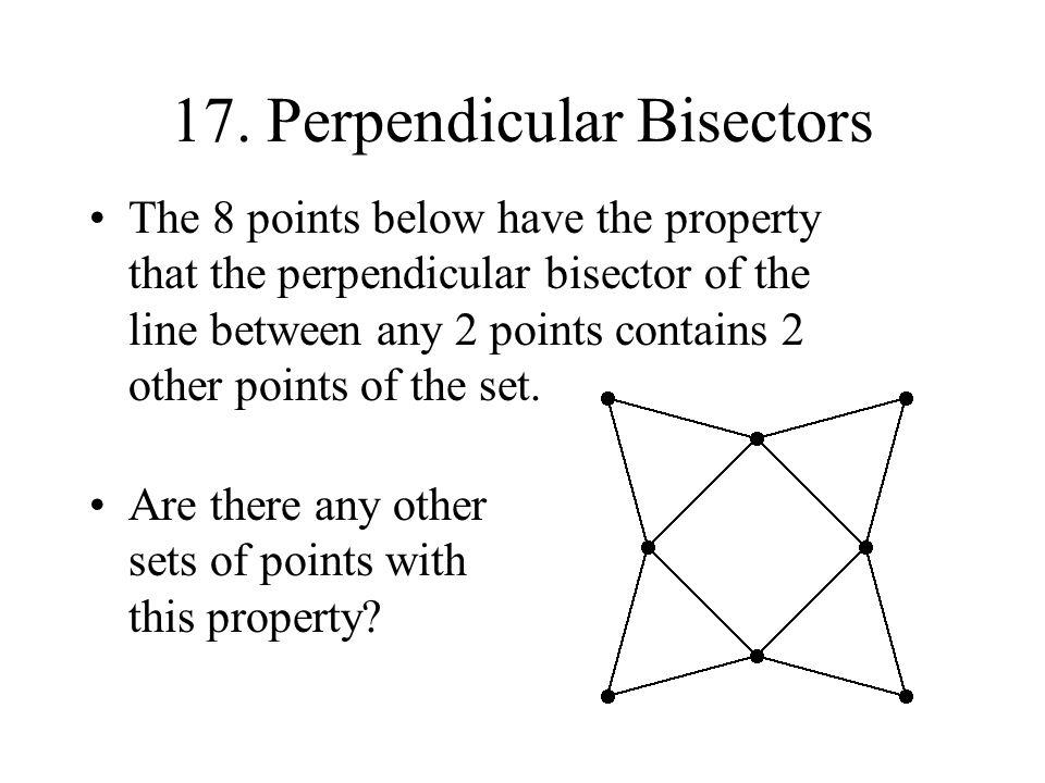 17. Perpendicular Bisectors