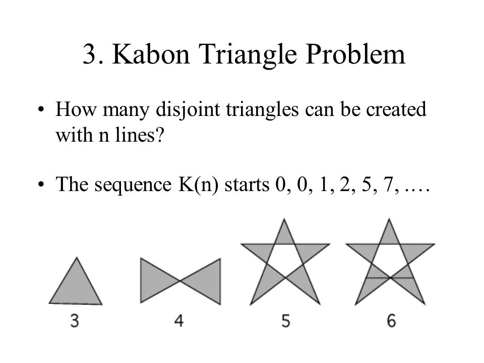 3. Kabon Triangle Problem