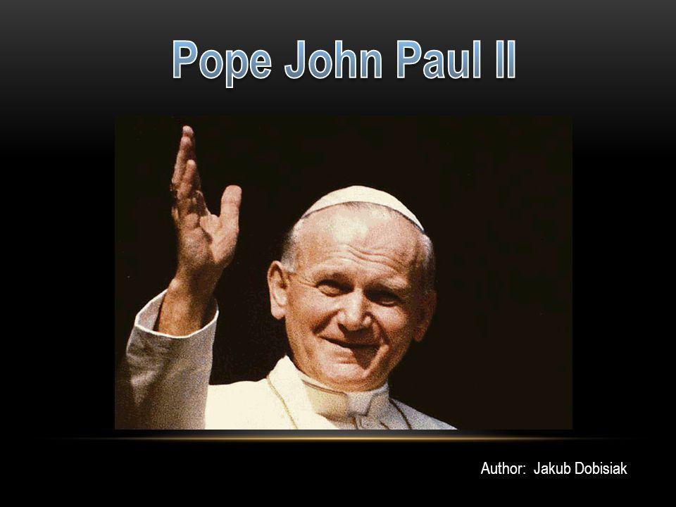 Pope John Paul II Author: Jakub Dobisiak