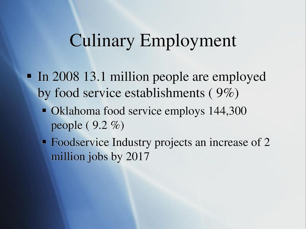 Professionalism in the Culinary World - ppt download