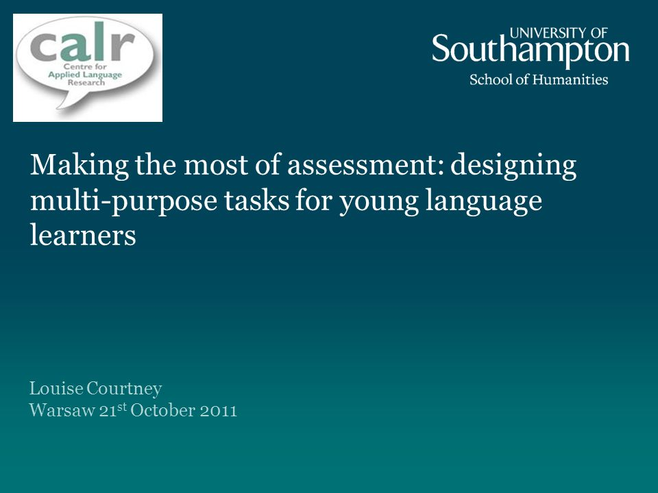 Making the most of assessment: designing multi-purpose tasks for young language learners