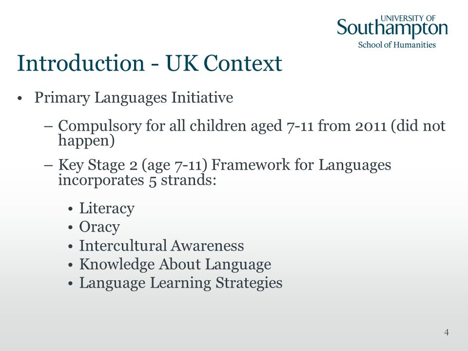 Introduction - UK Context