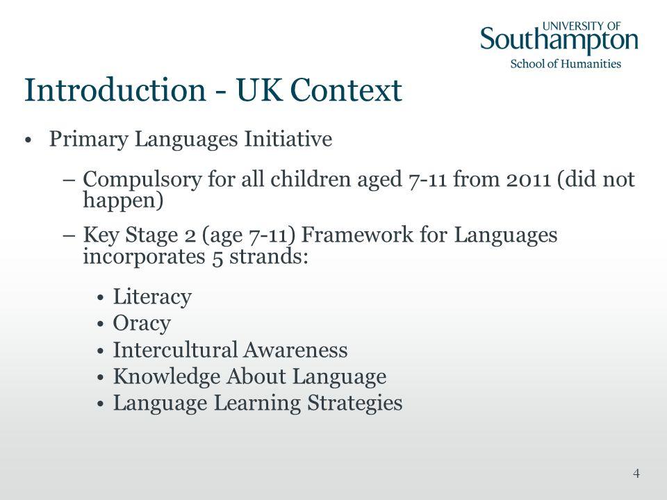 Introduction - UK Context