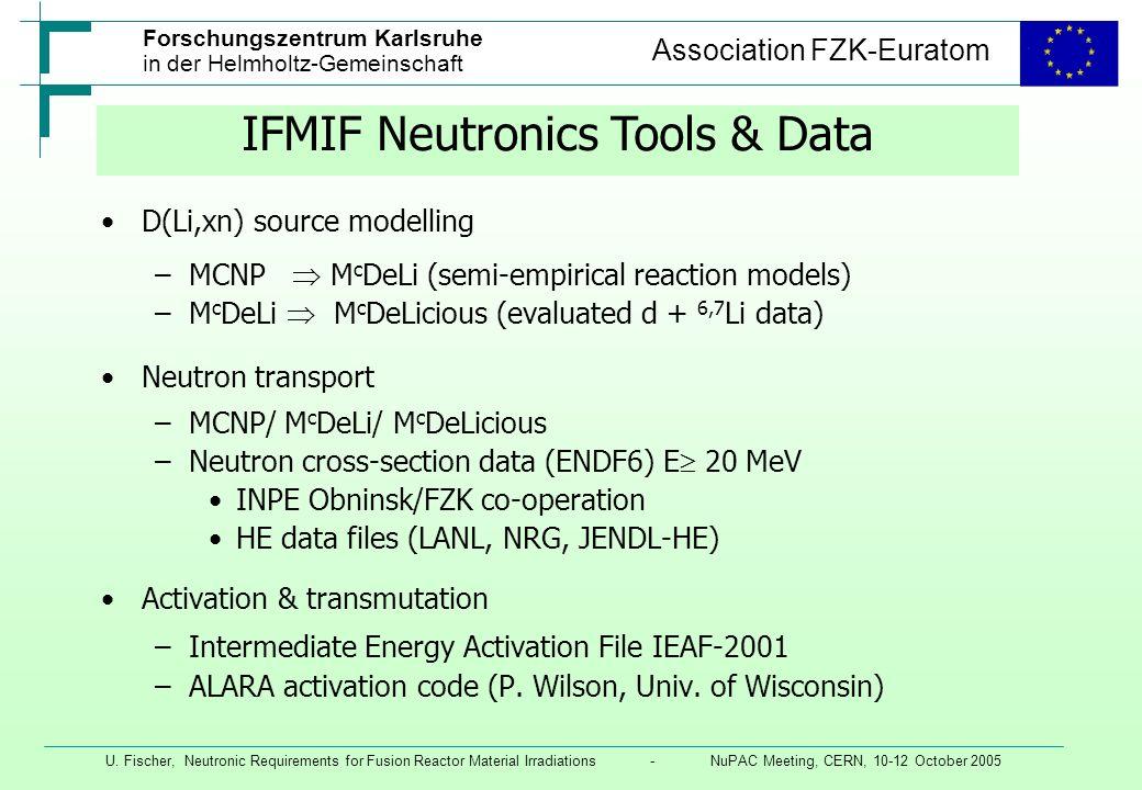 IFMIF Neutronics Tools & Data