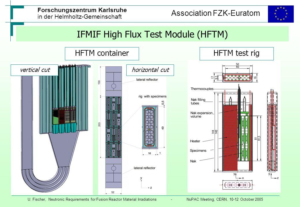 IFMIF High Flux Test Module (HFTM)