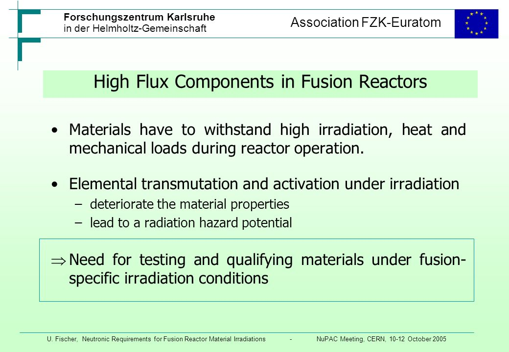 High Flux Components in Fusion Reactors
