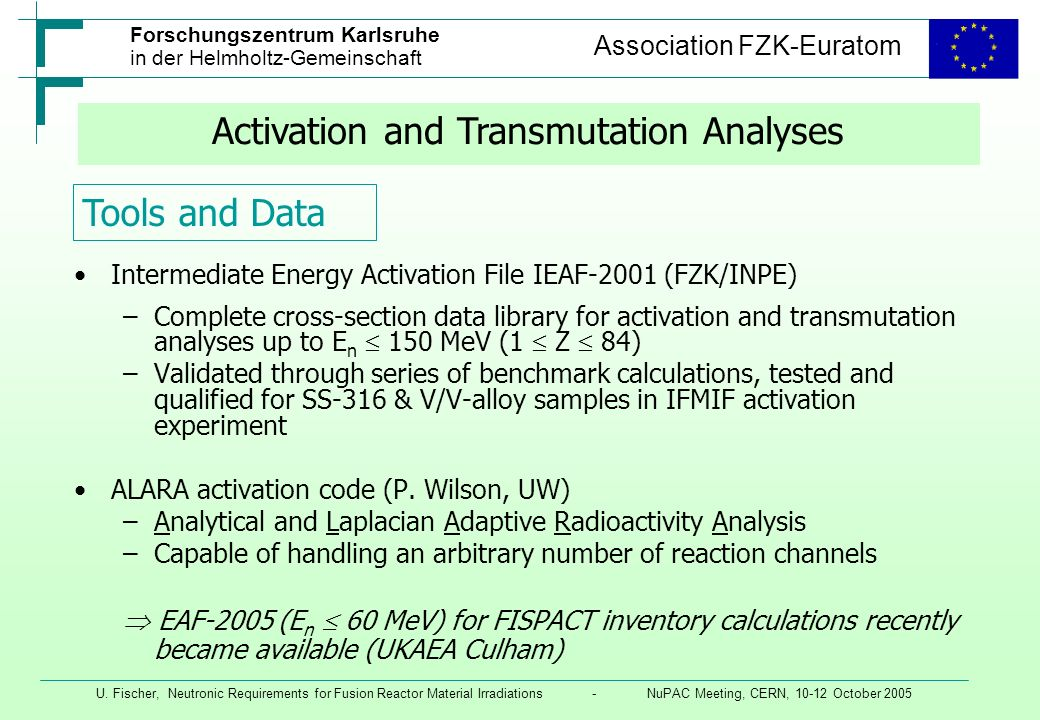 Activation and Transmutation Analyses