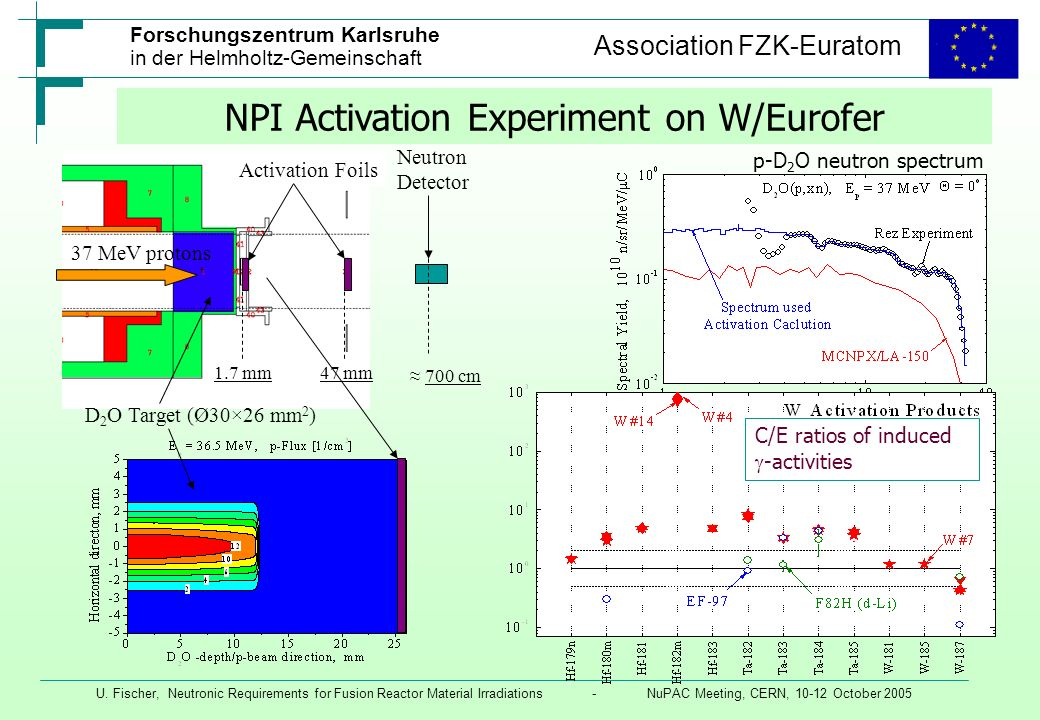 NPI Activation Experiment on W/Eurofer