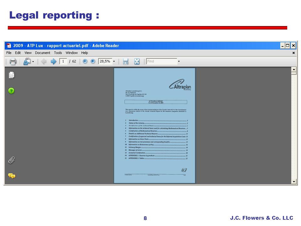 Legal reporting :
