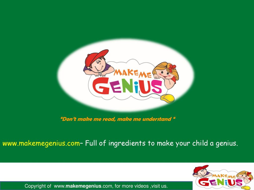 Full of ingredients to make your child a genius.