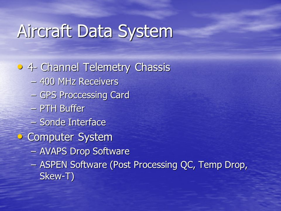 Aircraft Data System 4- Channel Telemetry Chassis Computer System