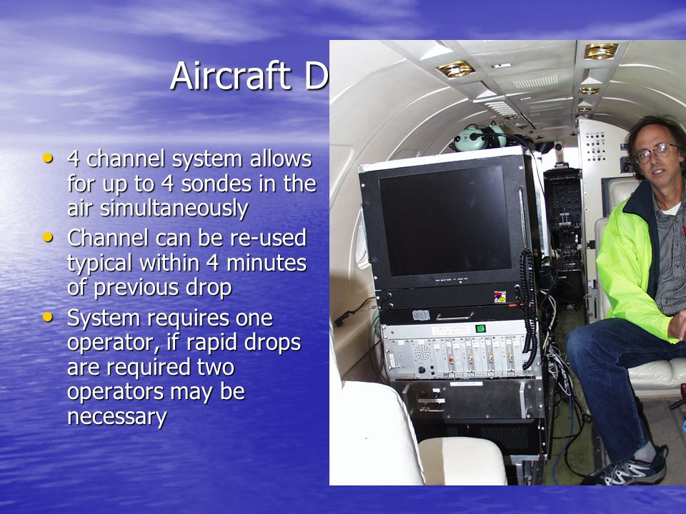 Aircraft Data System 4 channel system allows for up to 4 sondes in the air simultaneously.