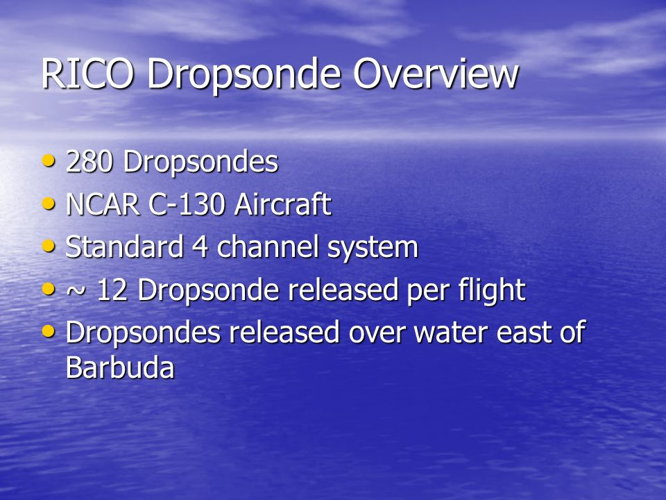 RICO Dropsonde Overview