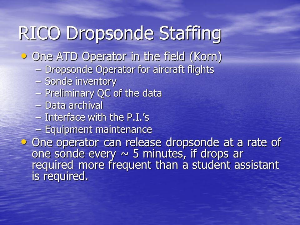RICO Dropsonde Staffing