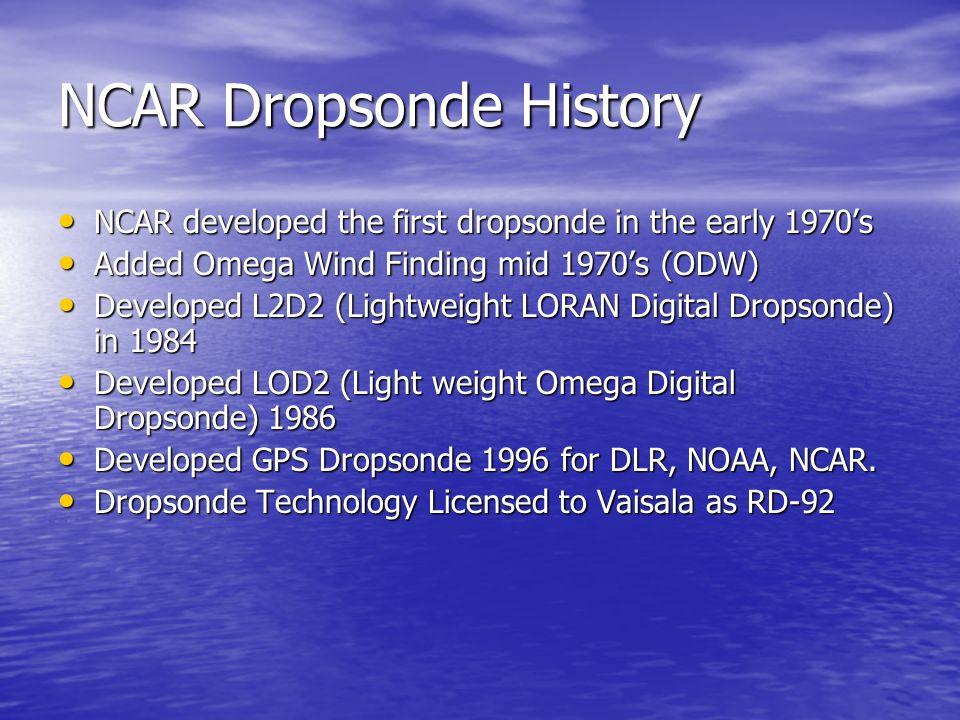NCAR Dropsonde History