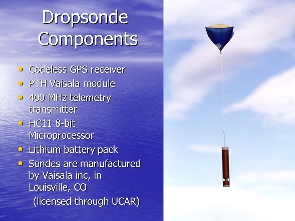 Dropsonde Components Codeless GPS receiver PTH Vaisala module
