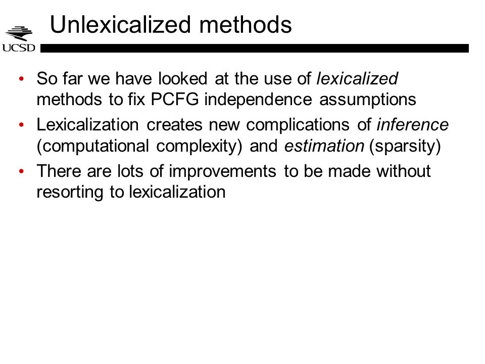 Unlexicalized methods
