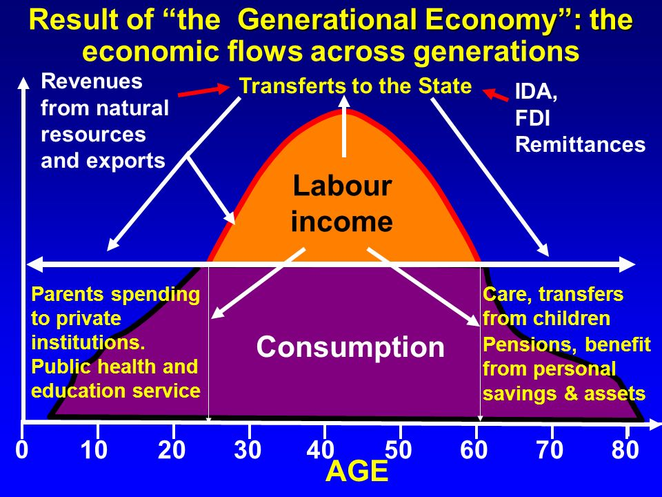 Result of the Generational Economy : the economic flows across generations