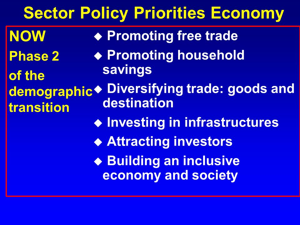 Sector Policy Priorities Economy