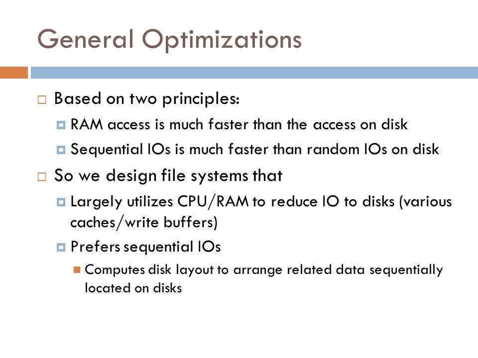 General Optimizations
