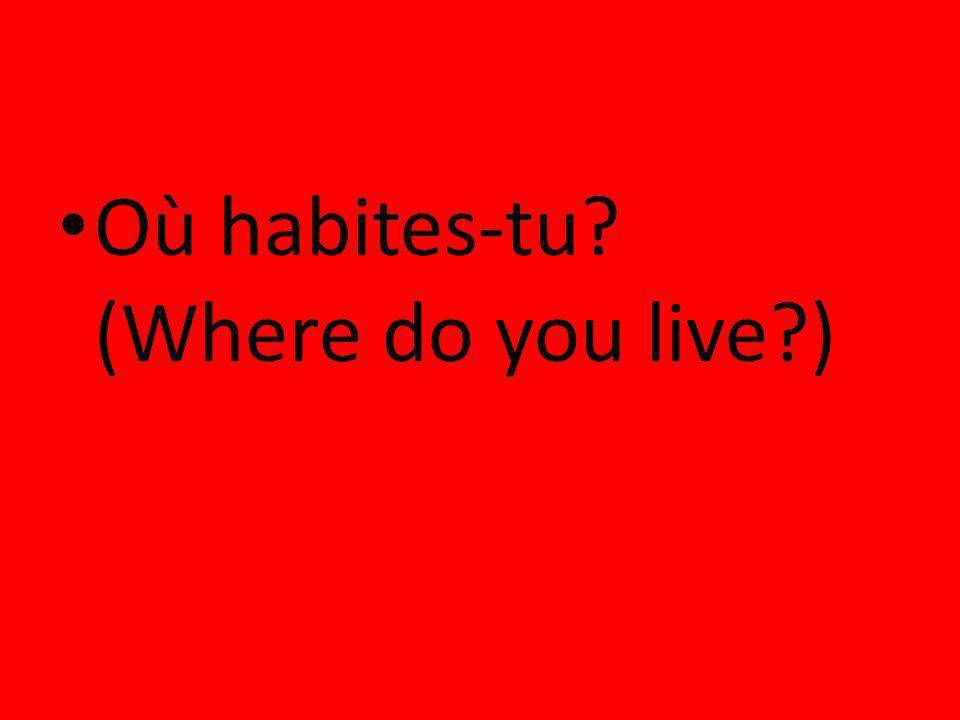 Où habites-tu (Where do you live )