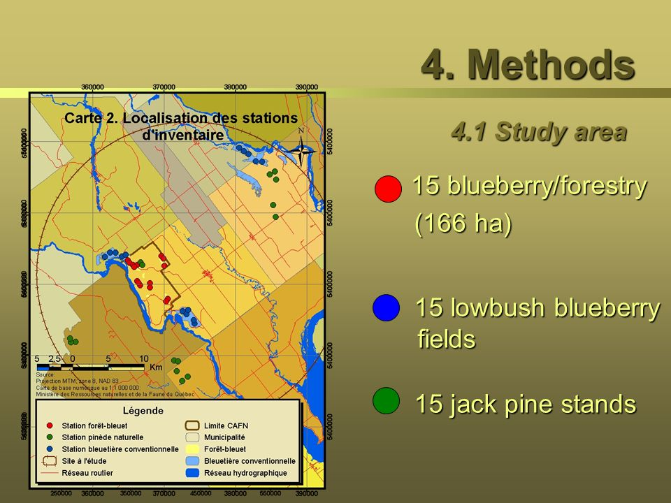 4. Methods 4.1 Study area 15 blueberry/forestry (166 ha)