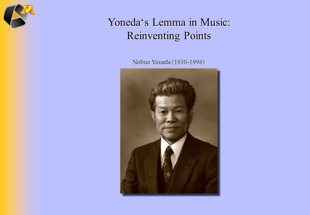 Yoneda's Lemma in Music:
