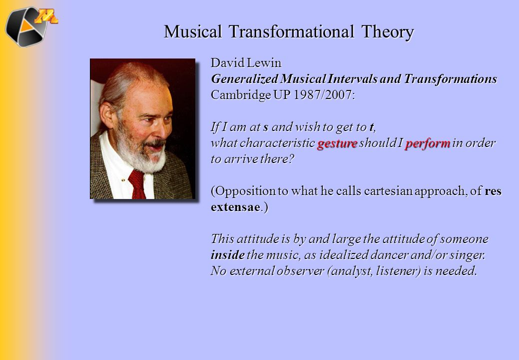 Musical Transformational Theory