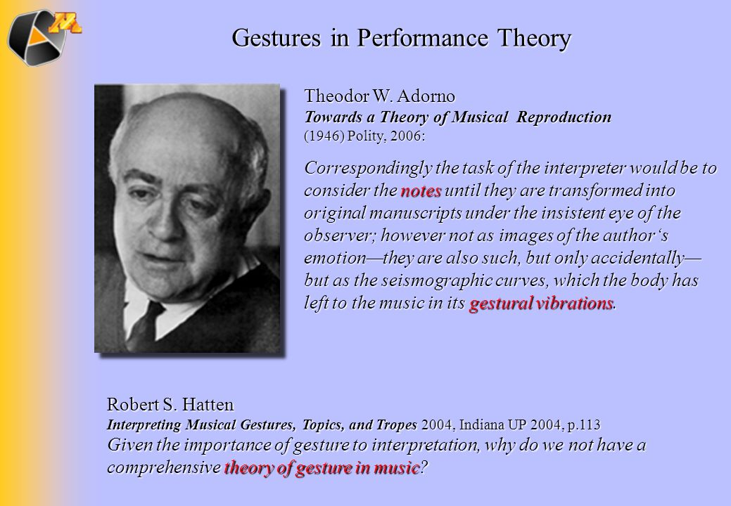 Gestures in Performance Theory