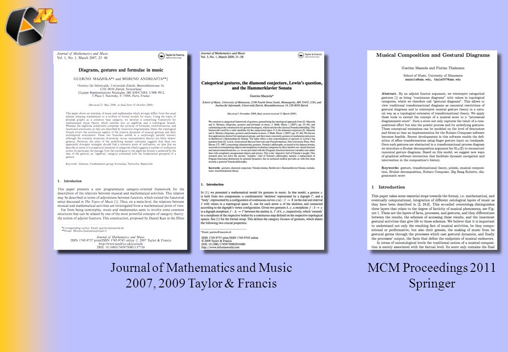 Journal of Mathematics and Music