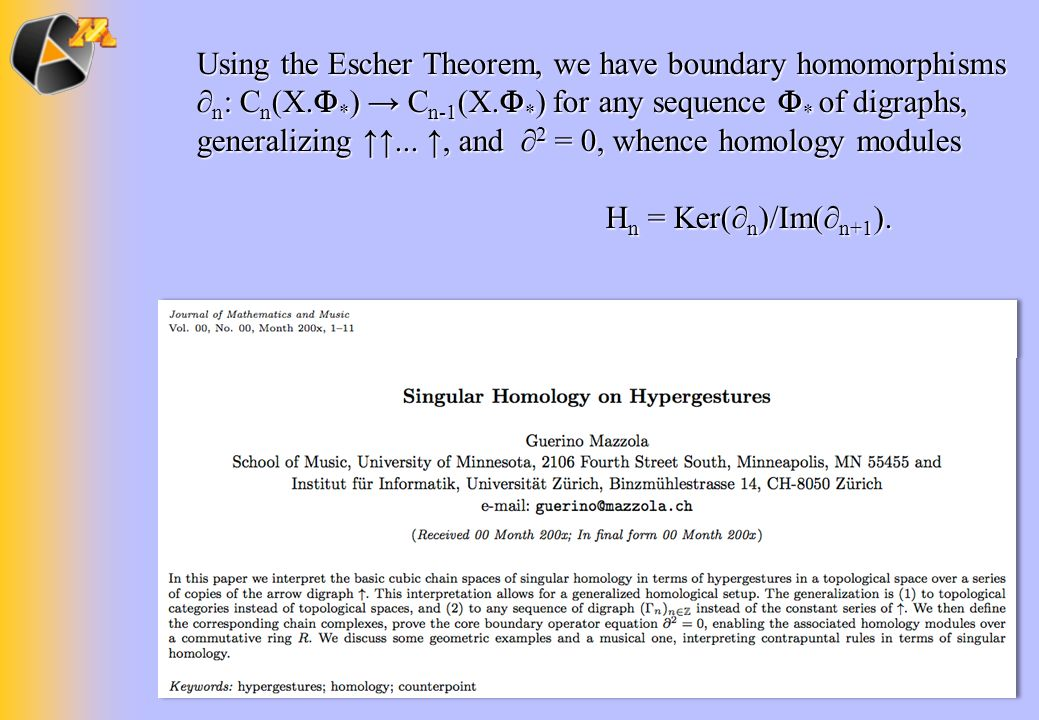 Using the Escher Theorem, we have boundary homomorphisms