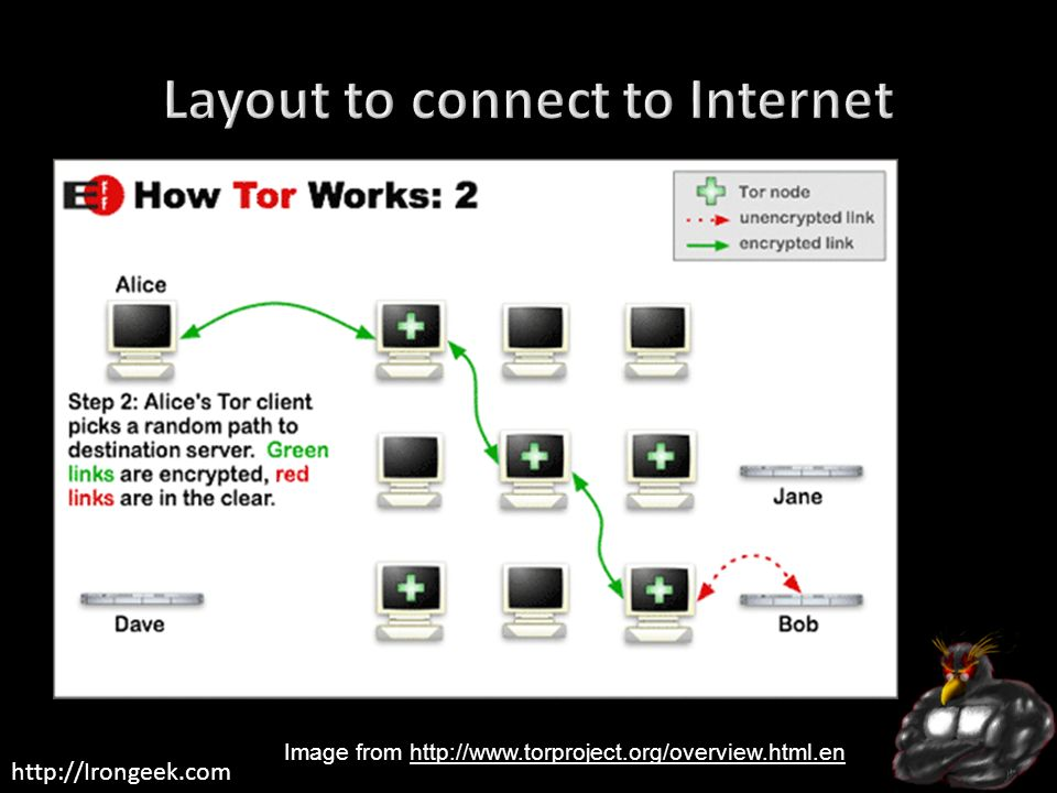 Layout to connect to Internet