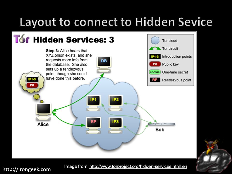 Layout to connect to Hidden Sevice