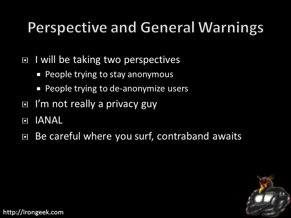 Perspective and General Warnings