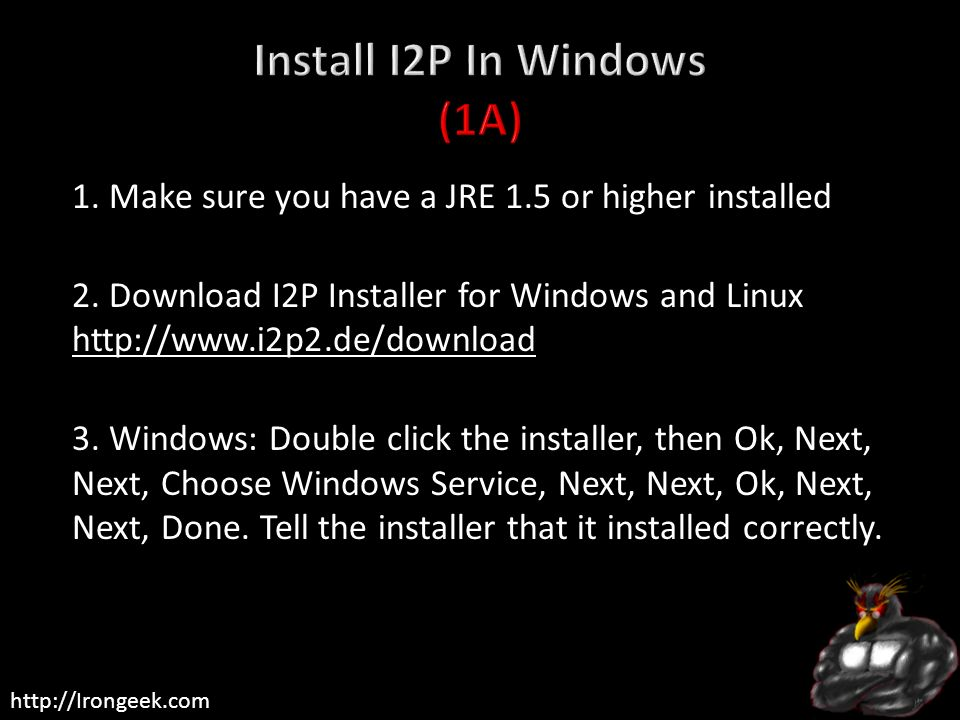 Install I2P In Windows (1A)