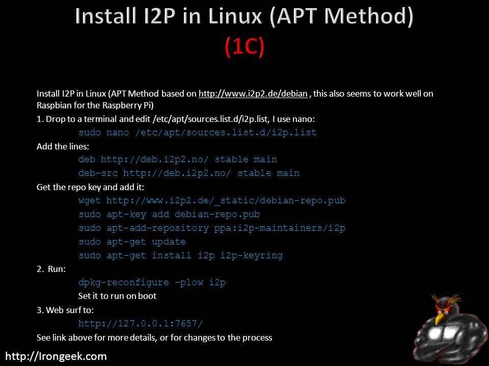 Install I2P in Linux (APT Method) (1C)