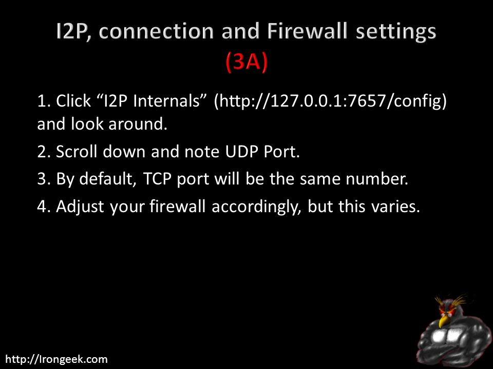 I2P, connection and Firewall settings (3A)