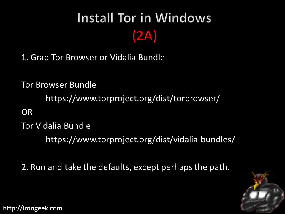 Install Tor in Windows (2A)
