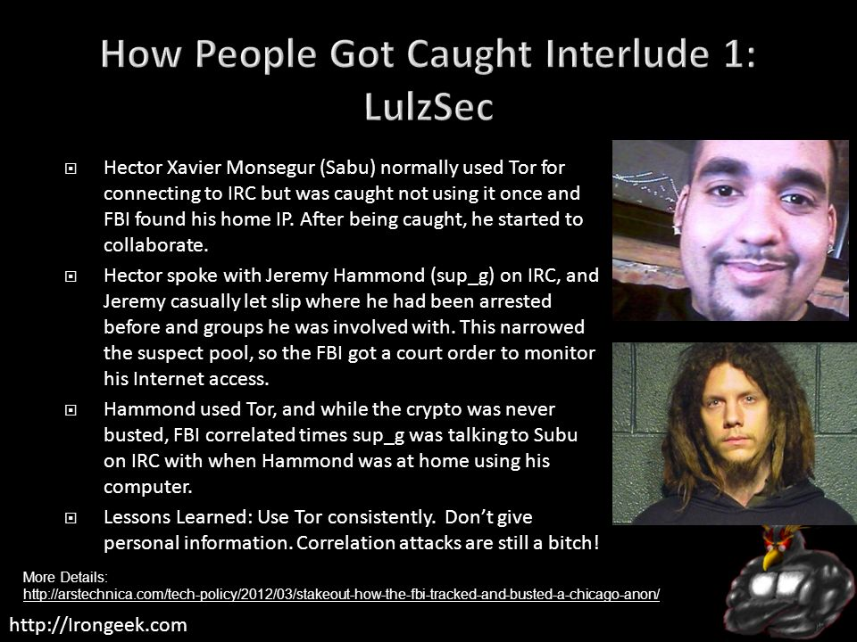 How People Got Caught Interlude 1: LulzSec