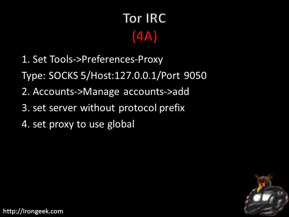 Tor IRC (4A)