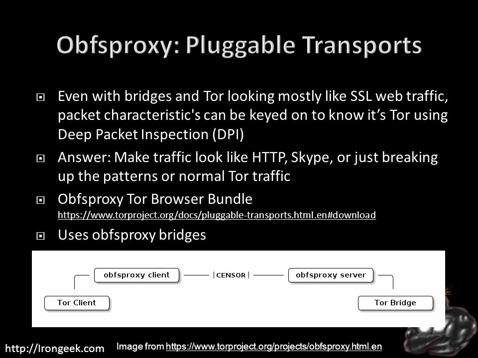 Obfsproxy: Pluggable Transports
