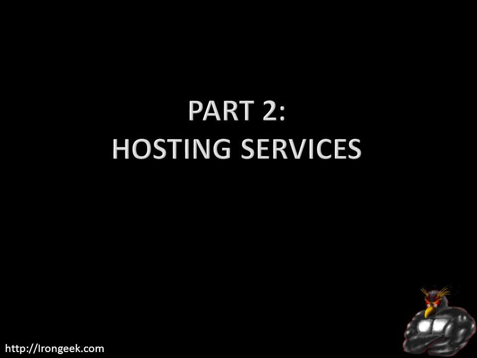 Part 2: Hosting Services