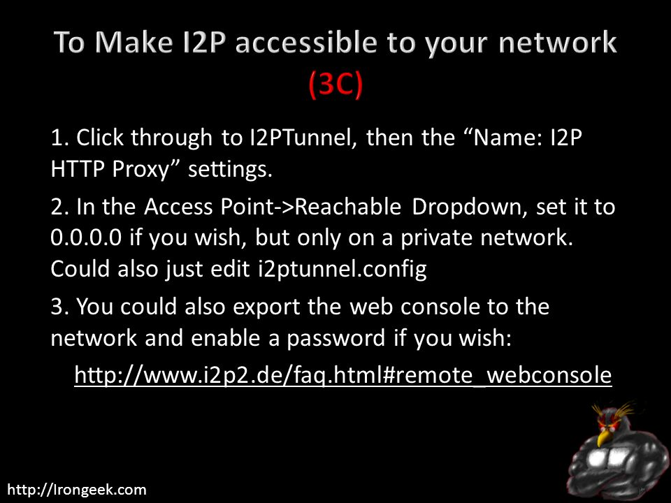 To Make I2P accessible to your network (3C)