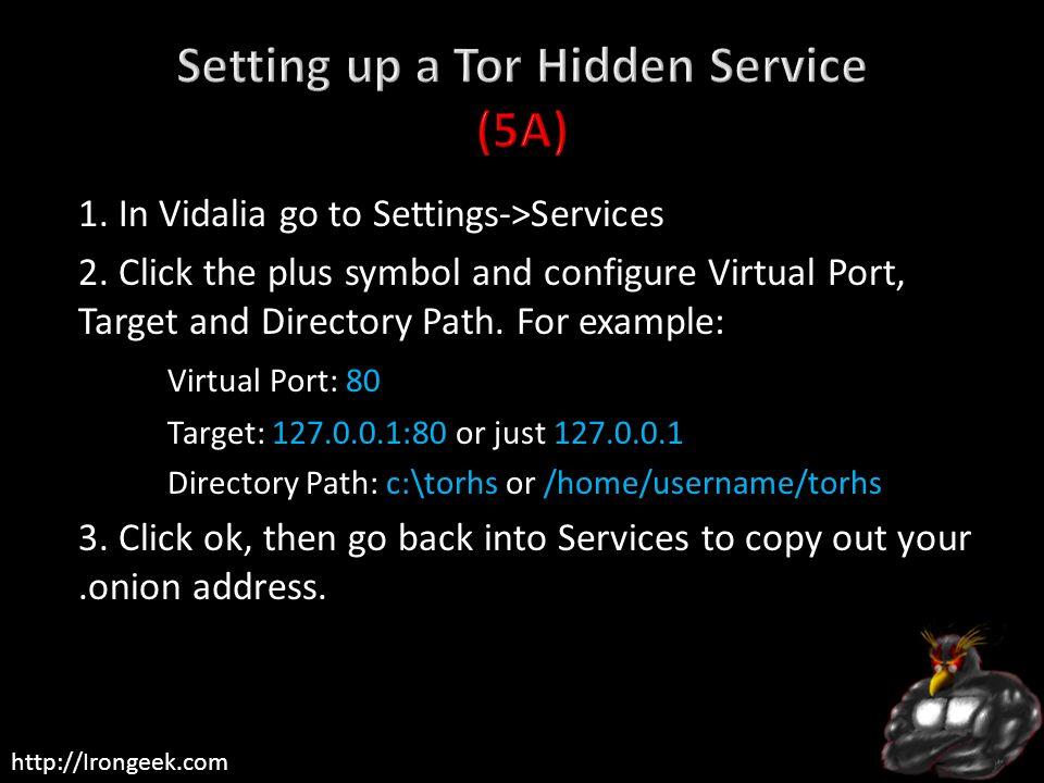Setting up a Tor Hidden Service (5A)