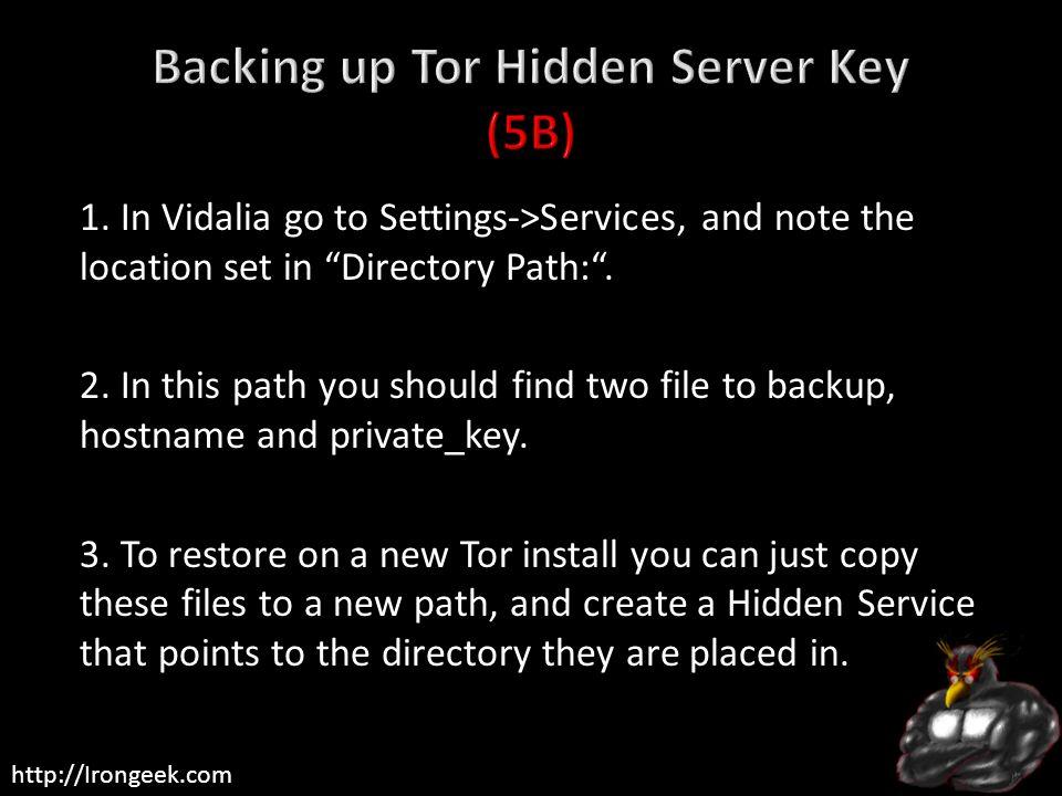 Backing up Tor Hidden Server Key (5B)