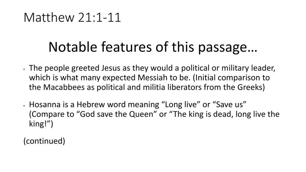 Jesus Entry Into Jerusalem Ppt Download