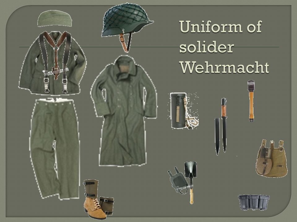 Uniform of solider Wehrmacht